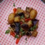 Potrawka z młodych ziemniaków i bakłażanów