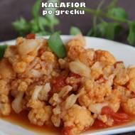 Kalafior po grecku (w sosie pomidorowym wraz z dodatkiem cynamonu)