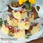 ciasto maślankowe z agrestem