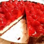 Tarta truskawkowa z panna cottą