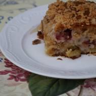 Szybkie i łatwe kokosowe ciasto z agrestem, wiadomo że wegańskie!