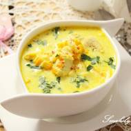 Zupa kukurydziana z kurczakiem i zacierkami