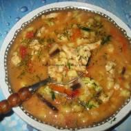 Zupa z piersi kurczaka z zacierkami