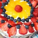 Błyskawiczny tort śmietanowo-owocowy