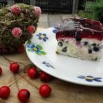 ciasto kremowe z borówkami lub jagodami