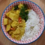 Kokosowe curry z selerem