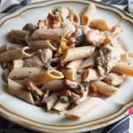 Kurki w sosie śmietanowo - koperkowym z indykiem i makaronem