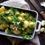 Sałatka z bobem i ziemniakami