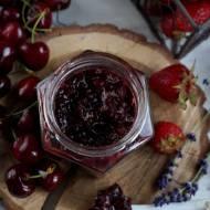 Dżem wiśniowo-rabarbarowy z truskawką