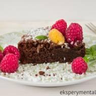 Ciasto czekoladowe z malinami bezglutenowe