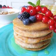 Razowe pancake z mąki kasztanowej, bez jajek i mleka (Pancake integrali con farina di castagne, senza uova e latte)