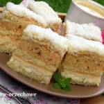 ciasto orzechowo-kokosowe z alkoholem