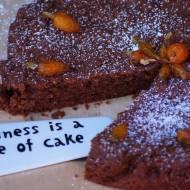 Czekoladowe ciasto z dżemem marchewkowym