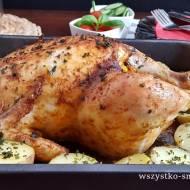 Kurczak faszerowany zapiekany z ziemniakami