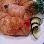 Roladki z kurczaka z cukinią i papryką
