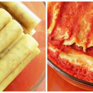 Cannelloni z mięsem i pieczarkami
