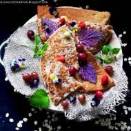 Mąka lniana zamiast jajka i Vege Pancakes z czerwonym agrestem