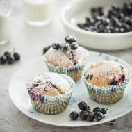 Muffinki z czarną porzeczką i czekoladą