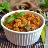 Risotto pomidorowe z wieprzowiną