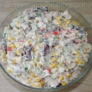 Sałatka z surimi i ryżem