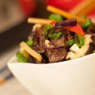 Stir-fry z marynowaną wołowiną czyli obiad w pół godziny