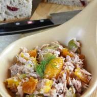 Pasta kanapkowa z tuńczykiem i pieczoną papryką