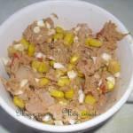 Pasta rybna z kukurydzą