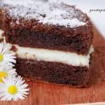 Ciasto kakaowe przekładane budyniem
