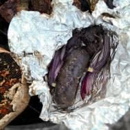Grillowana kaszanka z cebulką