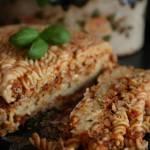 Makaron z mięsem a la lazania