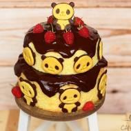 Nietypowy pandzi tort  (bez glutenu, cukru białego, laktozy)