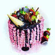 Tort malinowo truskawkowy