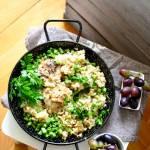 Udka kurczaka z rozmarynowo- cytrynowym ryżem i fasolką szparagową