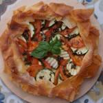 Zapiekane pomidory i cukinia  w cieście filo