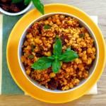 Kasza bulgur z suszonymi pomidorami i ciecierzycą