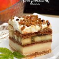ciasto karmelowo-bananowe (bez pieczenia)