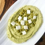 Pasta z zielonego groszku z fetą