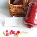 Dżem z czerwonej porzeczki z cukrem żelującym Diamant