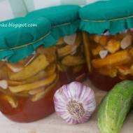 Ogóreczki w chilli i czosnku-do słoików