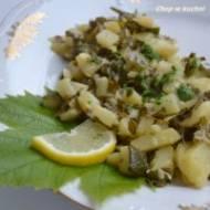 Kartołfle ze liściami winogrōn (Ziemniaki z liśćmi winogron)
