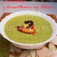 Zupa krem z ogórka i awokado z krewetkami wg Aleex