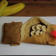 Sakiewki naleśnikowe z nutellą i bananami