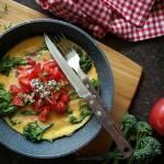 Omlet z brokułem łodygowym
