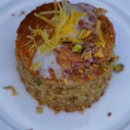 Ciasto pistacjowe z cukinią oraz nutą cytrynową
