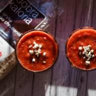 Koktajl truskawkowy w wersji śniadaniowej