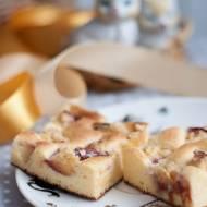 Kukurydziane ciasto z nektarynką (bez cukru, bez glutenu)