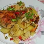 Pałki z kurczaka zapiekane w warzywach