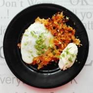 Bataty zapiekane z cebulką i jajkiem
