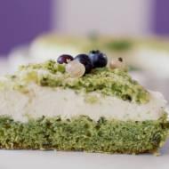Ciasto zielony mech z porzeczkami