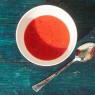 Zupa buraczkowa z młodych warzyw. BLW na pierwsze danie.
